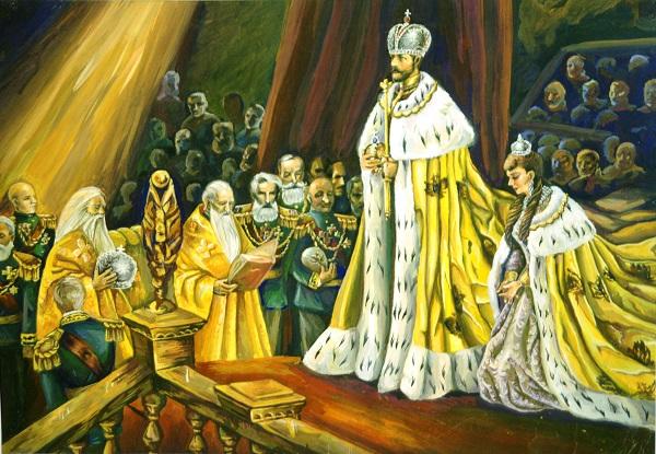 Анна Коцемир 15 лет «Коронация Николая II» бумага, гуашь